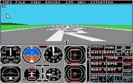 In game image of Flight Simulator 2 on the Atari ST.