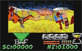In game image of Flintstones on the Atari ST.