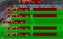 In game image of Football Manager 2 on the Atari ST.