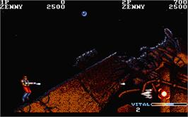 In game image of Forgotten Worlds on the Atari ST.