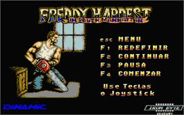 In game image of Freddy Hardest in South Manhattan on the Atari ST.