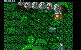 In game image of Frenetic on the Atari ST.