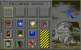 In game image of Full Metal Planete on the Atari ST.