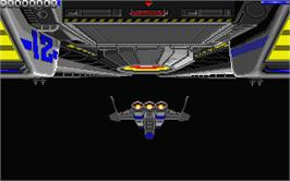 In game image of Galactic Conqueror on the Atari ST.