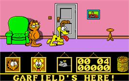 In game image of Garfield: Big, Fat, Hairy Deal on the Atari ST.
