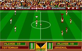 In game image of Gazza's Super Soccer on the Atari ST.