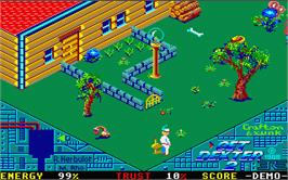 In game image of Get Dexter on the Atari ST.