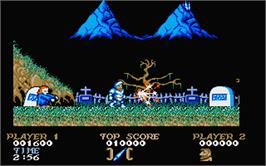In game image of Ghosts'n Goblins on the Atari ST.
