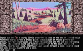 In game image of Gnome Ranger on the Atari ST.