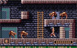 In game image of Gods on the Atari ST.