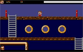 In game image of Goin' Down with the Captain on the Atari ST.
