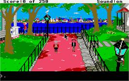 In game image of Gold Rush on the Atari ST.