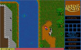 In game image of Gold of the Realm on the Atari ST.
