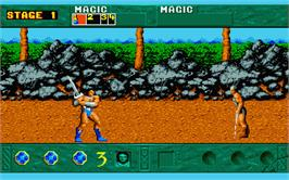 In game image of Golden Axe on the Atari ST.
