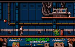 In game image of Gremlins 2: The New Batch on the Atari ST.