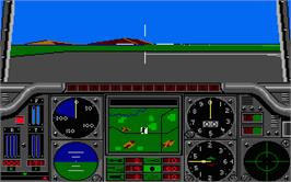 In game image of Gunship on the Atari ST.