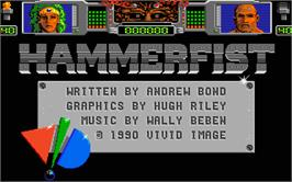 In game image of Hammerfist on the Atari ST.
