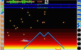 In game image of Hellfire Attack on the Atari ST.