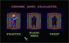 In game image of Hero's Quest: So You Want To Be A Hero on the Atari ST.