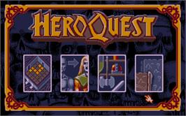 In game image of Hero Quest on the Atari ST.