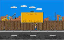 In game image of Highway Patrol 2 on the Atari ST.