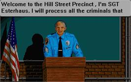In game image of Hill Street Blues on the Atari ST.