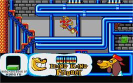 In game image of Hong Kong Phooey: No.1 Super Guy on the Atari ST.