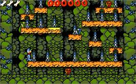In game image of Huckleberry Hound in Hollywood Capers on the Atari ST.