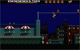In game image of Hudson Hawk on the Atari ST.