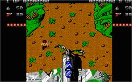 In game image of Ikari Warriors on the Atari ST.