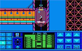 In game image of Impossible Mission 2 on the Atari ST.