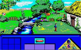 In game image of Indian Mission on the Atari ST.