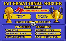 In game image of International Soccer Challenge on the Atari ST.