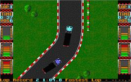 In game image of International Truck Racing on the Atari ST.