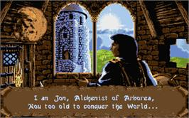 In game image of Ishar 2: Messengers of Doom on the Atari ST.