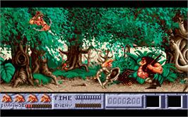 In game image of Ivanhoe on the Atari ST.