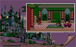 In game image of Iznogoud on the Atari ST.