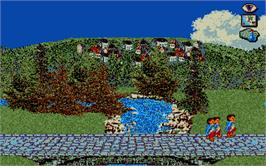 In game image of J.R.R. Tolkien's War in Middle Earth on the Atari ST.
