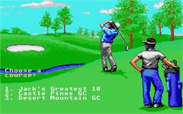 In game image of Jack Nicklaus' Greatest 18 Holes of Major Championship Golf on the Atari ST.