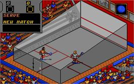 In game image of Jahangir Khan's World Championship Squash on the Atari ST.