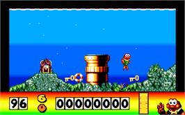 In game image of James Pond on the Atari ST.