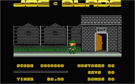 In game image of Joe Blade on the Atari ST.