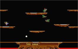 In game image of Joust on the Atari ST.