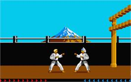 In game image of Karateka on the Atari ST.