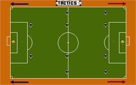 In game image of Kenny Dalglish Soccer Manager on the Atari ST.