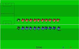 In game image of Kick Off 2: Winning Tactics on the Atari ST.