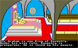 In game image of King's Quest II: Romancing the Throne on the Atari ST.