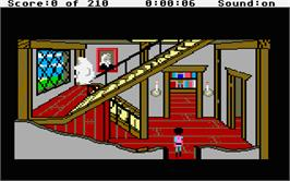 In game image of King's Quest III: To Heir is Human on the Atari ST.