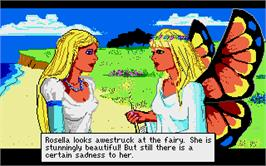 In game image of King's Quest IV: The Perils of Rosella on the Atari ST.