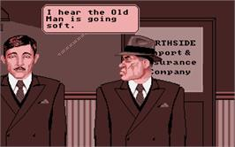 In game image of King of Chicago on the Atari ST.